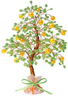 АА 46-103 Бисерное Апельсиновое дерево   cleverhobby.ru